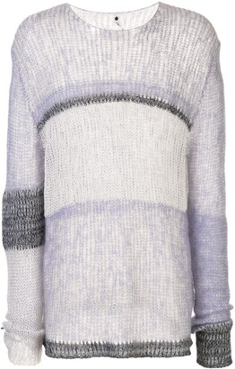 Oamc Loose Knit Striped Jumper