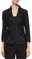 Escada Embroidered Tulle Jacket, Black