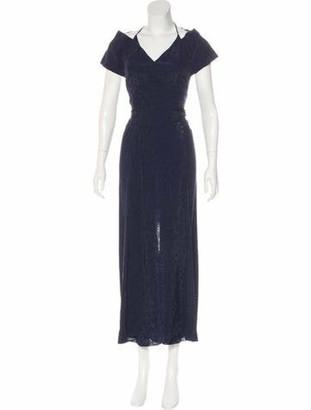 Roland Mouret Open Back Maxi Dress Blue