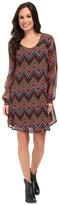 Roper 9905 Aztec Printed Georgette A-Line Dress