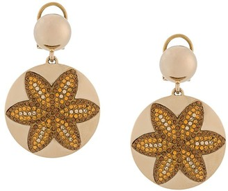 Swarovski Evil Eye Disc earrings