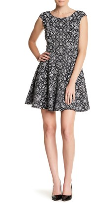 Betsey Johnson Printed Fit & Flare Dress
