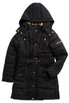 Hawke & Co Faux Fur-Trimmed Quilted Coat