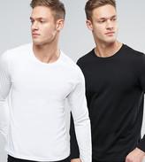 Jack and Jones Originals Long Sleeve T-Shirt 2 Pack Save
