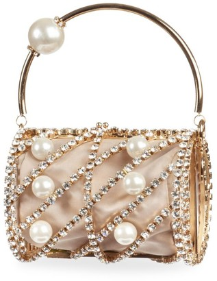 Rosantica Birgitta Embellished Top Handle Bag