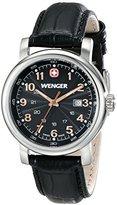 Wenger Women's 1021.105 Analog Display Swiss Quartz Black Watch