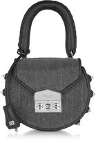 Salar Mimi Mini Disco Gunmetal Shoulder Bag