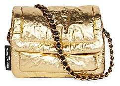 Marc Jacobs Women's Mini The Pillow Metallic Leather Crossbody Bag