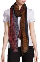 Bajra Animal-Print Wool & Silk Scarf