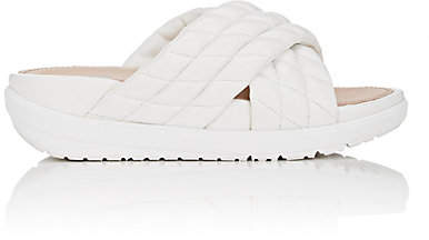 FitFlop LIMITED EDITION Women's Quilted Leather Slide Sandals - White