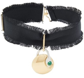 Chloé Callie Pendant Choker Necklace - Womens - Black