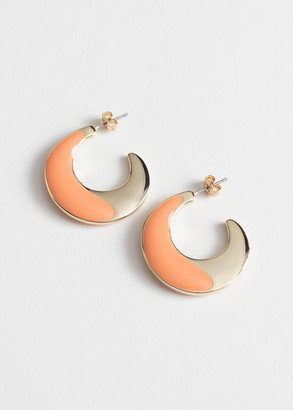 And other stories Duo Coloured Open Hoop Earrings
