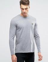 Lyle & Scott Long Sleeve Top Eagle Logo In Gray Marl