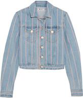 Alexander Wang Striped denim jacket