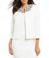 Kasper Stretch Crepe Embellished Jacket