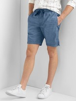 "Gap Chambray denim drawstring shorts (9"")"