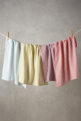 Anthropologie Baker Stripe Dish Towels, Set of 4 By in Assorted Size ALL