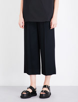 Chalayan High-rise cropped woven trousers