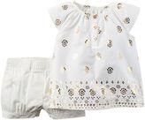 Carter's Ruffle Sleeve Top and Shorts Set - Baby Girls newborn-24m