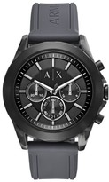 Ax Armani Exchange Chronograph Silicone Strap Watch, 44Mm