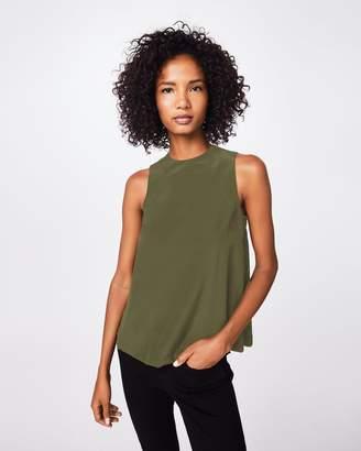 Nicole Miller Solid Silk Blend Tank Top