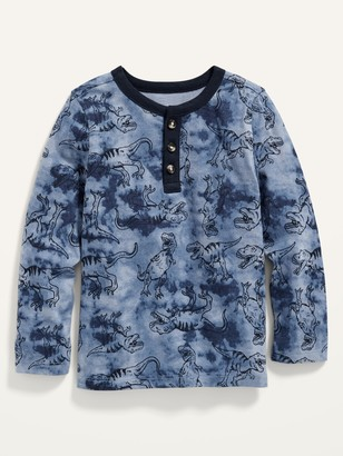 Old Navy Printed Long-Sleeve Henley for Toddler Boys