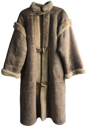 Christian Dior Beige Shearling Coat for Women Vintage