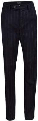 Joseph Black Striped Wool Trousers L