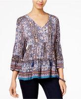 American Rag Printed Peasant Blouse, Only at Macy's