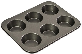 Bakemaster Classic 6 Cup Non-Stick Large Muffin Pan 35cm