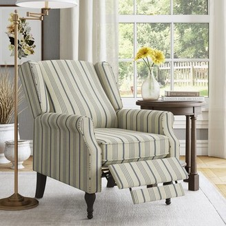 Three Posts Greg Manual Recliner Fabric: Denim Blue