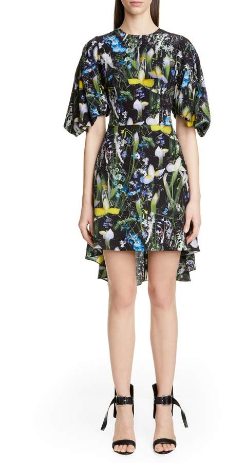 8109f833 Alexander McQueen Black Print Silk Dresses - ShopStyle