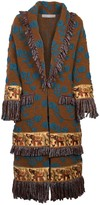 The Extreme Collection Embroidered Knit Coat Norberta