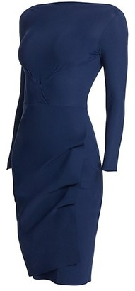 Chiara Boni Cassandre Wrap-Effect Boatneck Dress