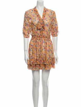 Nicholas Silk Mini Dress Yellow
