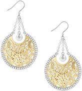 Lucky Brand Openwork Circle Statement Drop Earrings