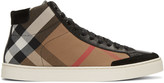 Burberry Black Painton Check High-top Sneakers