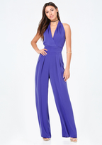 Bebe Draped Halter Jumpsuit
