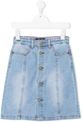 Molo Button-Down Denim Skirt