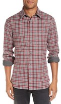 Nordstrom Men's Workwear Trim Fit Flannel Shirt