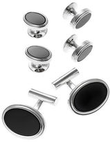 Black Brown 1826 Oval Cuff Links and Matching Studs