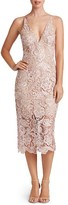 Dress the Population Women's 'Marie' Lace Midi Dress