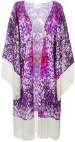 Athena Procopiou - fringed floral kimono - women - Silk - M/L