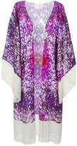 Athena Procopiou fringed floral kimono