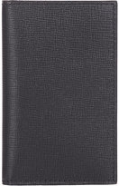 Valextra Men's Vertical Business Card Case-BLACK