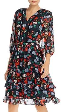nanette Nanette Lepore Floral Print Fit-and-Flare Dress