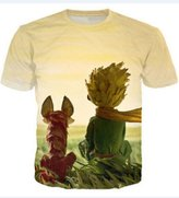 Snlydtan Cartoon Little Le Petit Prince Fox Tee Shirts XXL