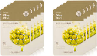 The Face Shop Real Nature Olive Face Mask Skin Purifying 10Pk
