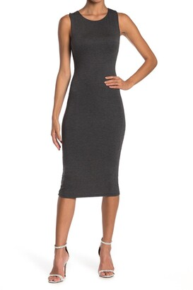 Velvet Torch Racerback Bodycon Midi Dress