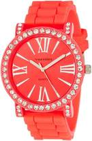 Vernier Women's VNR11140OR Dazzling Oversized Roman Numeral Silicone Watch